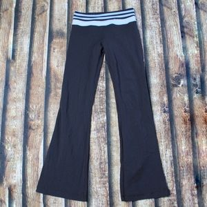 Lululemon Black Yoga Pants Blue Black Striped Band